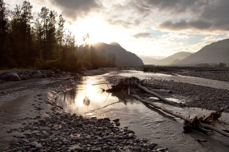 Шторм реки Chilkat стоковая фотография rf