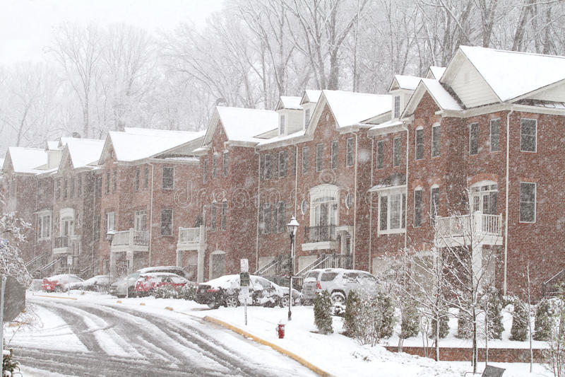 шторм снежка fairfax стоковое фото