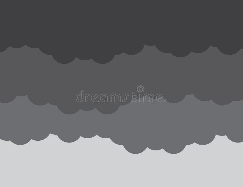 Шторм темноты облаков иллюстрация штока