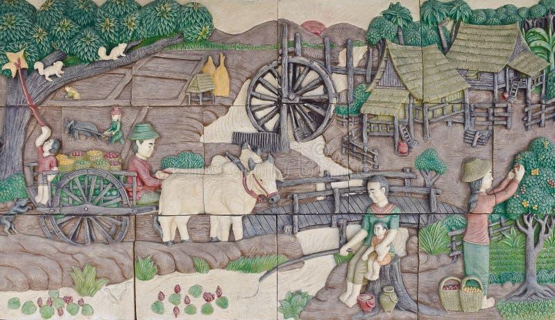 Штукатурка родной культуры тайская стоковые фото