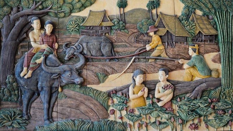 Штукатурка родной культуры тайская стоковое изображение