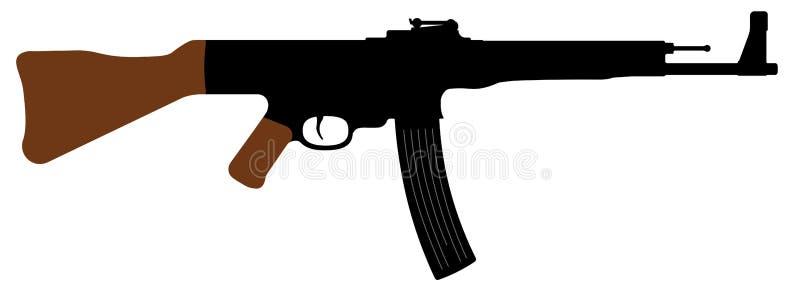 Штурмовая винтовка StG 44 Sturmgewehr 44 Дети и взрослые готовят дальше его Иллюстрация вектора силуэта иллюстрация штока