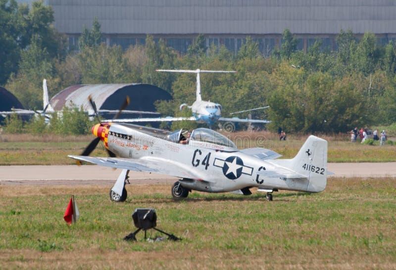 Штурмовик мустанга P-51 стоковые фото