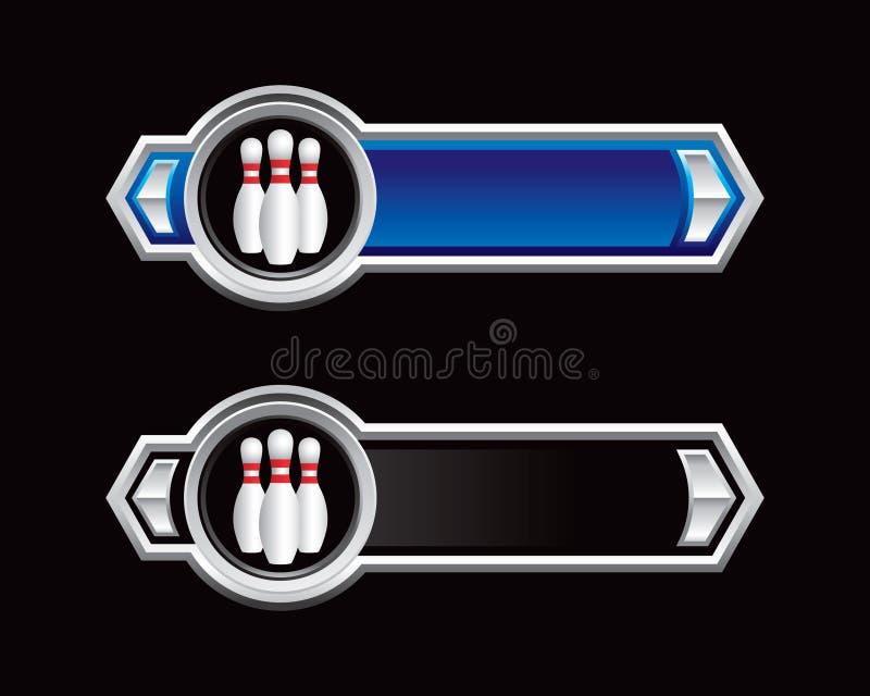 штыри боулинга стрелок черные голубые бесплатная иллюстрация