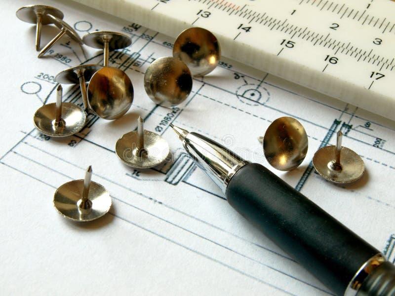 штыри карандаша стоковое изображение