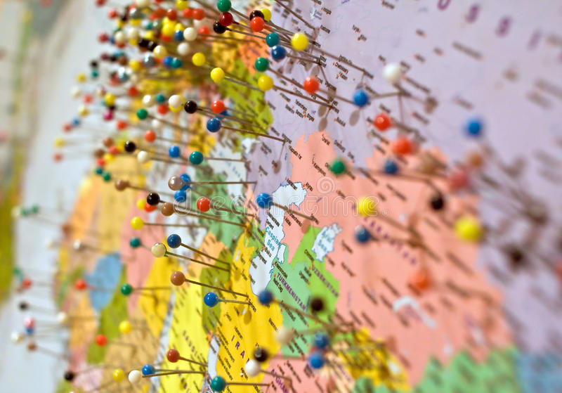 штыри карты стоковые изображения rf