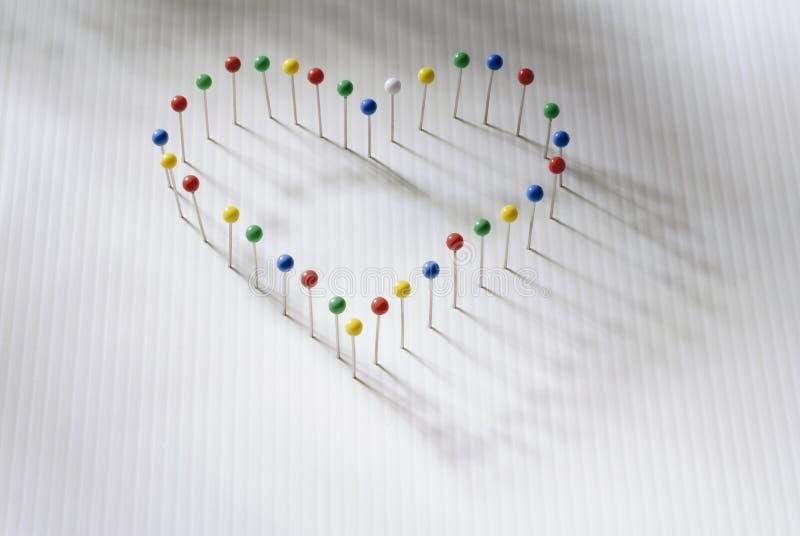 штыри сердца стоковые фотографии rf