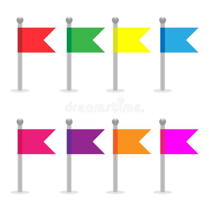 Штыри флага белизна трактора иконы предпосылки катят сетью, котор также вектор иллюстрации притяжки corel бесплатная иллюстрация