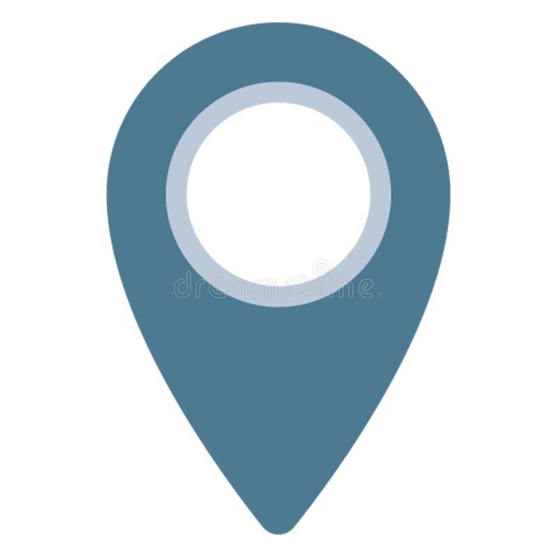 Штырь адреса, значок вектора положения изолированный указателем который можно легко редактировать иллюстрация штока