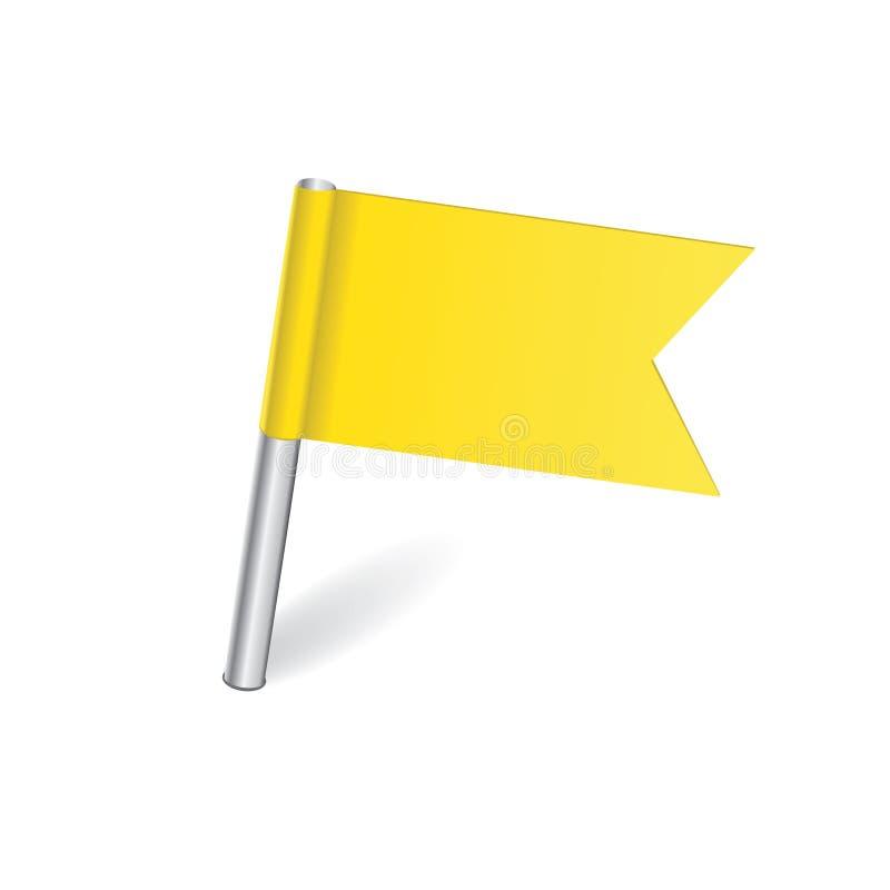 Штырь карты желтого флага бесплатная иллюстрация