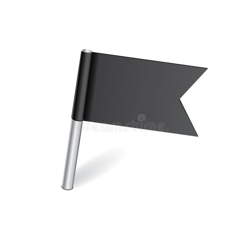 Штырь карты черного флага иллюстрация штока
