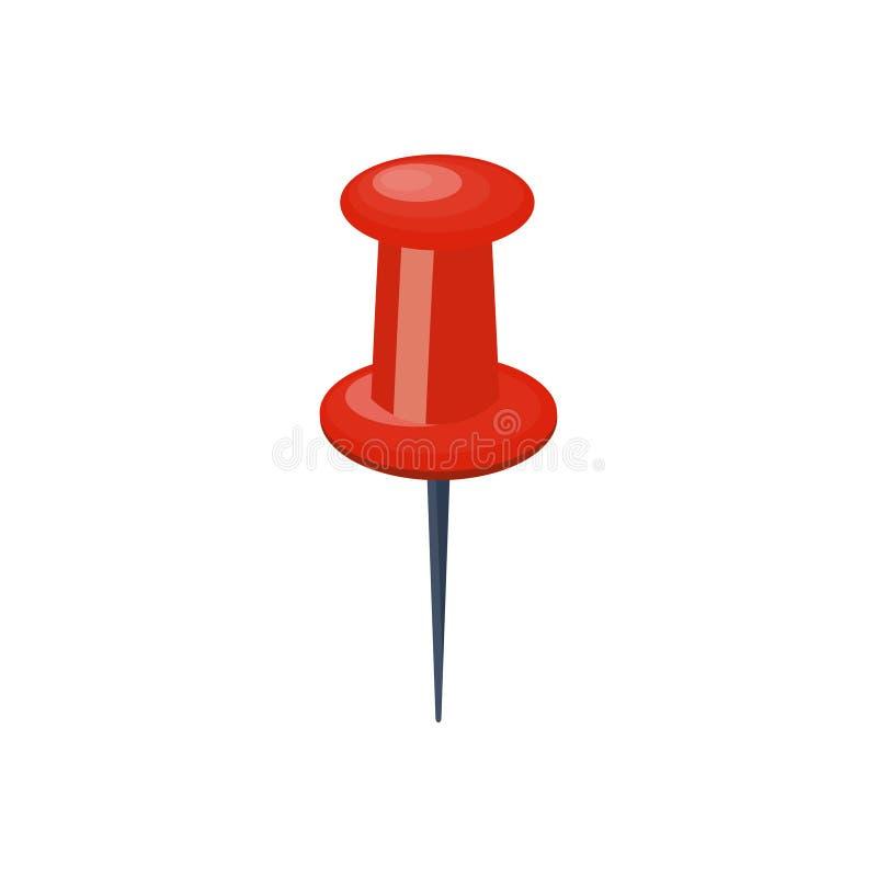 Штырь нажима в плоском стиле атакующего paperwork также вектор иллюстрации притяжки corel иллюстрация вектора