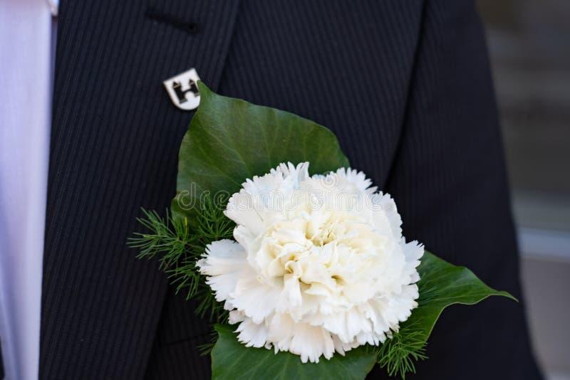 Штырь цветка для человека на Jugendfest Brugg стоковое фото rf
