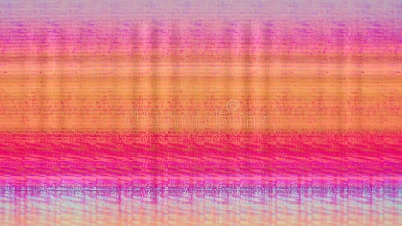 Шум снега пиксела цифров экрана телевизора стоковая фотография rf