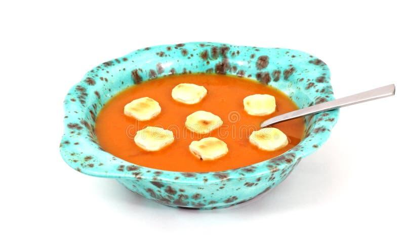 шутихи супа черпают томат ложкой стоковые фото