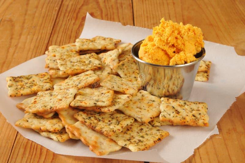Шутихи Flatbread с сыром чеддера стоковые изображения rf