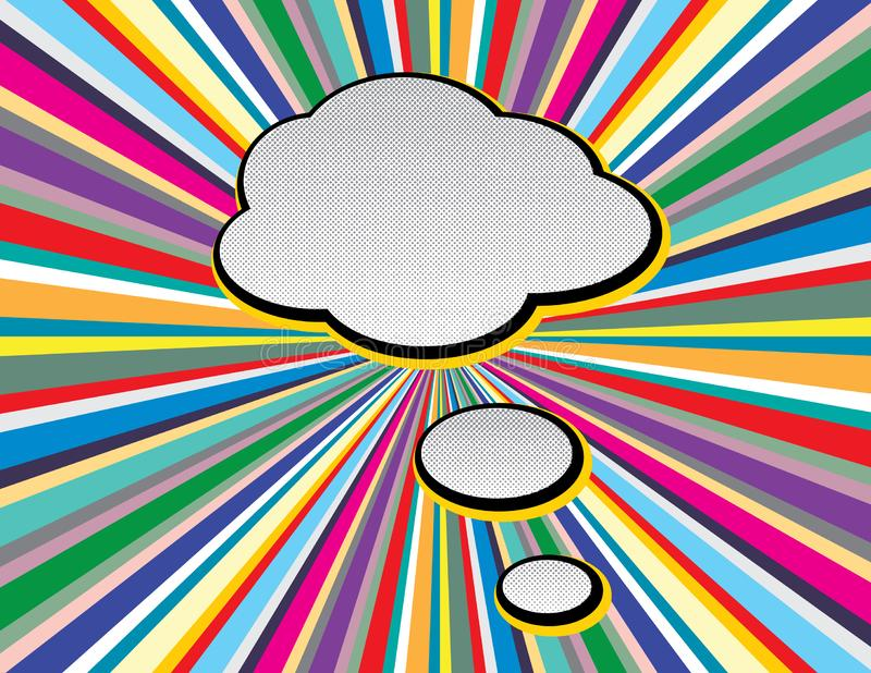 Шуточное искусство попа пузыря речи текста вводит по телевизору предпосылку в моду лучей стиля Ретро шуточные пустые пузыри речи  бесплатная иллюстрация