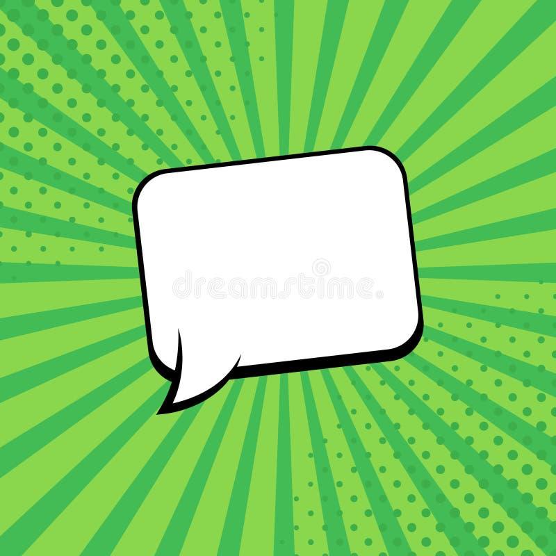 Шуточные лучи с пузырями речи Шуточный пузырь супергероя Постраничный макет комиксов Лучи, радиальные, полутоновое изображение r иллюстрация штока