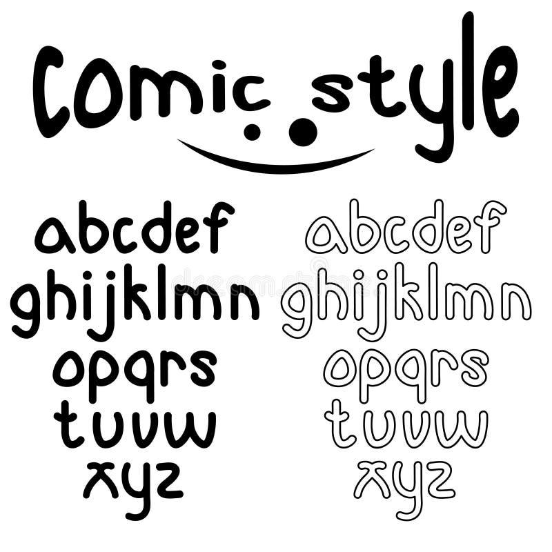 шуточный алфавит стиля бесплатная иллюстрация