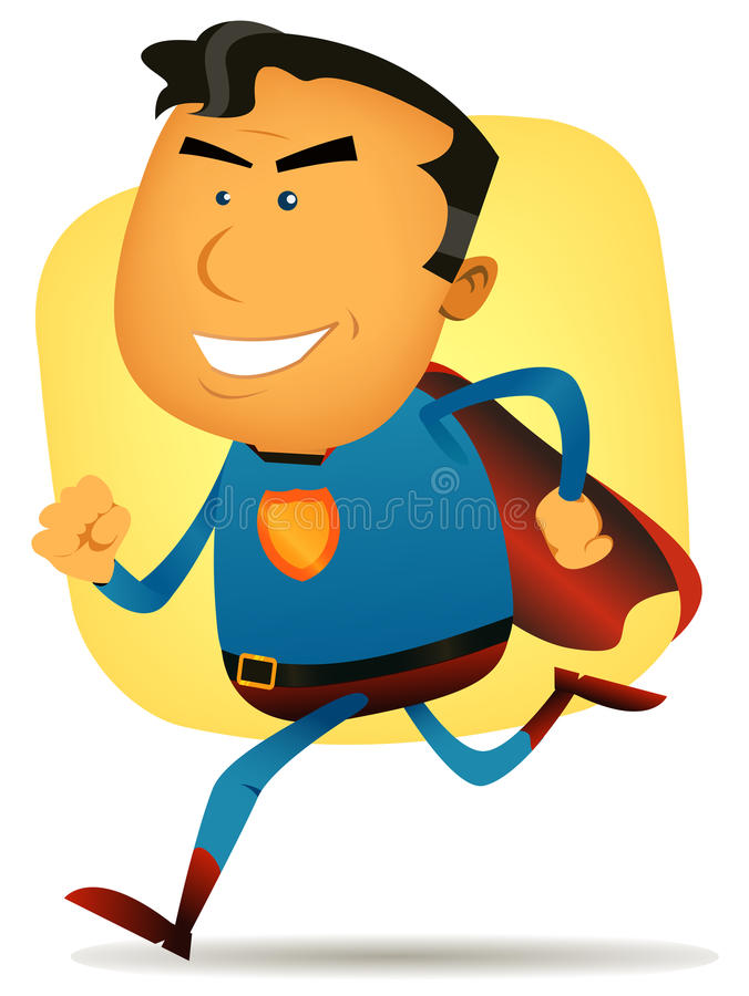 Шуточный ход супергероя бесплатная иллюстрация