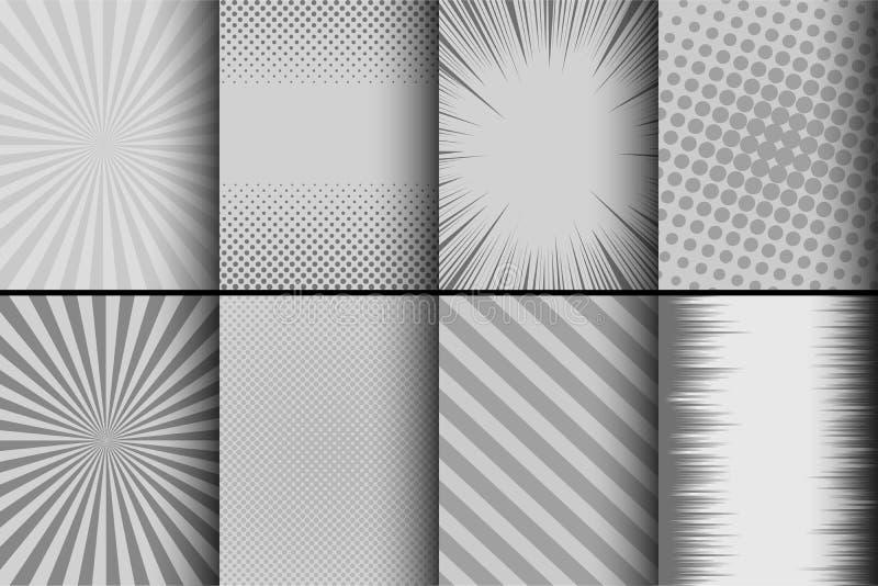 Шуточный monochrome комплект карточек бесплатная иллюстрация