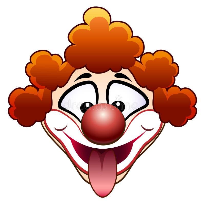 Шутя голова клоуна цирка иллюстрация штока