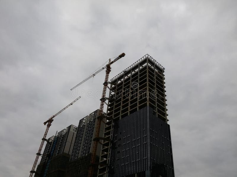 Шэньчжэнь, Китай: жилые дома под новым строительством стоковая фотография rf