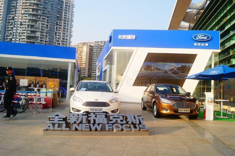 Шэньчжэнь, Китай: Музей опыта Changan Форда автомобильный стоковые изображения rf