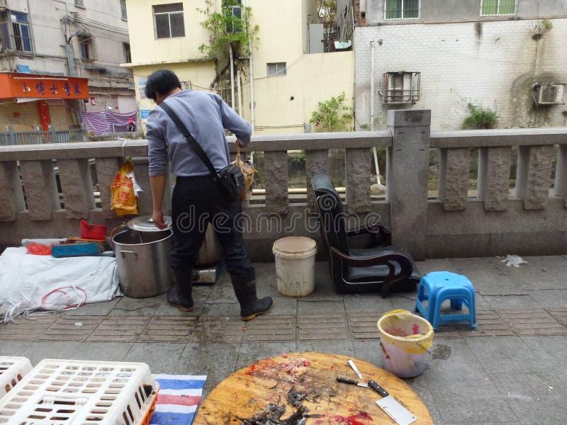 Шэньчжэнь, Китай: под открытым небом стойл цыпленка стоковое изображение rf