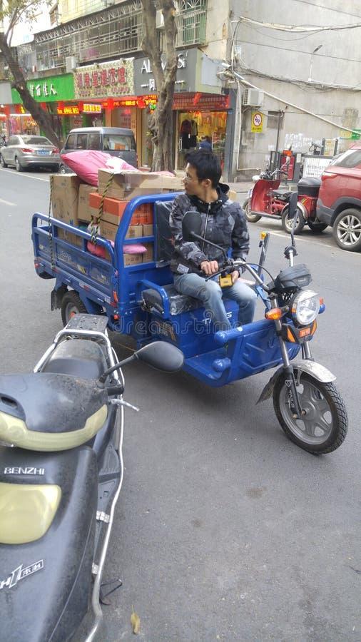 Шэньчжэнь, Китай: радиостанция для приема и отправки экспресс-товаров стоковые изображения rf