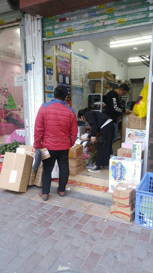 Шэньчжэнь, Китай: радиостанция для приема и отправки экспресс-товаров стоковые фото