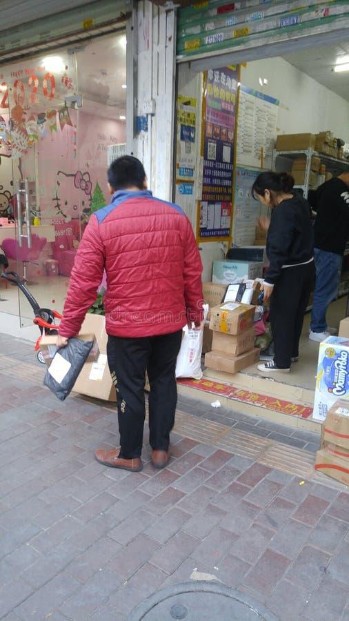 Шэньчжэнь, Китай: радиостанция для приема и отправки экспресс-товаров стоковая фотография rf