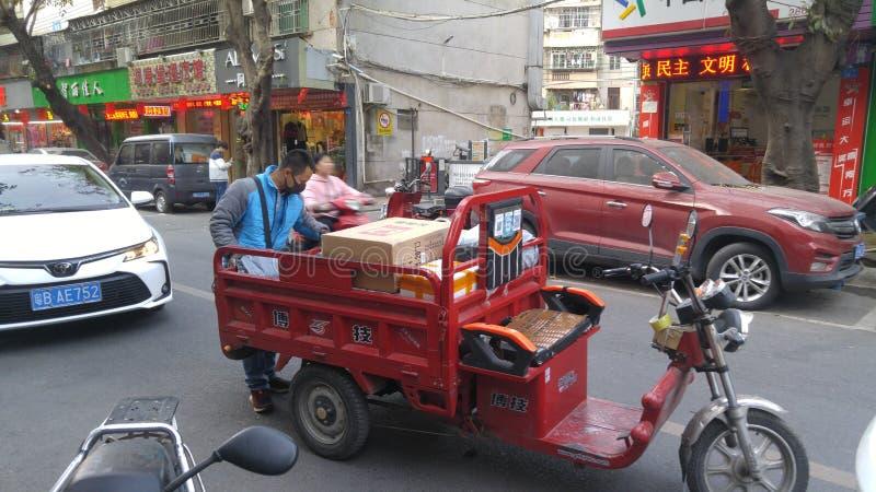 Шэньчжэнь, Китай: радиостанция для приема и отправки экспресс-товаров стоковое фото rf