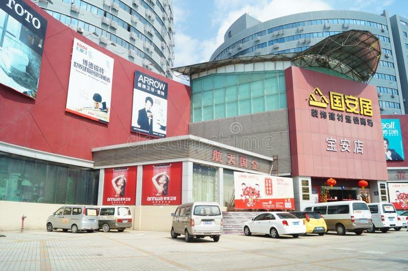 Шэньчжэнь, Китай: Рынок строительных материалов хозяйственных товаров стоковое фото rf