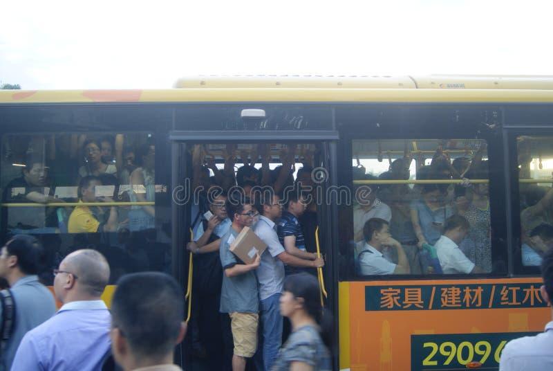 Шэньчжэнь, фарфор: дорожное движение города стоковые фотографии rf