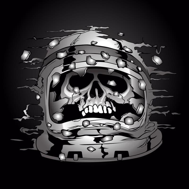 Шлем астронавта космоса иллюстрация штока