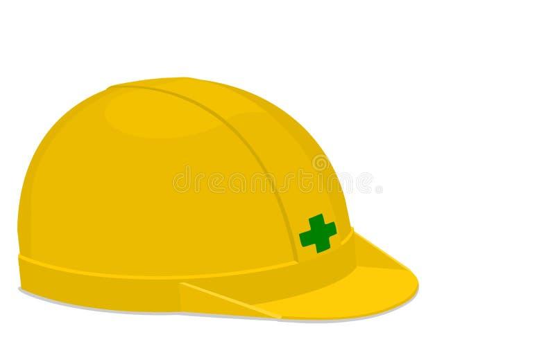 шлем изолировал иллюстрация вектора
