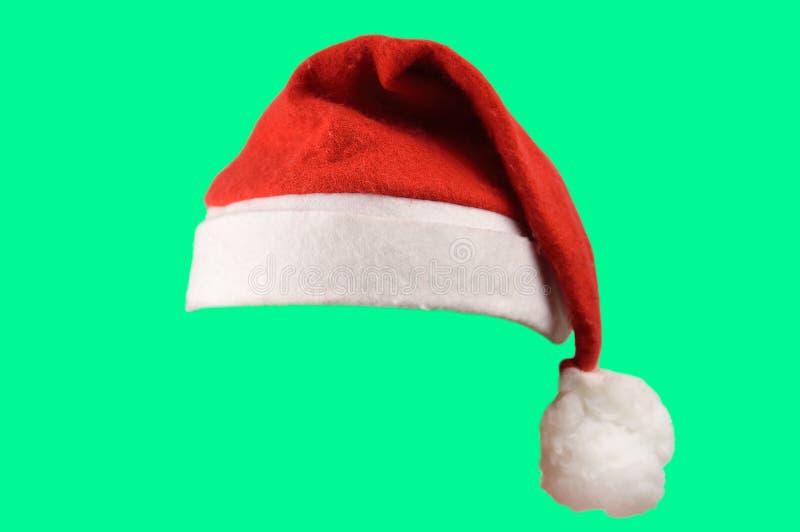 шлем изолировал santa стоковая фотография rf