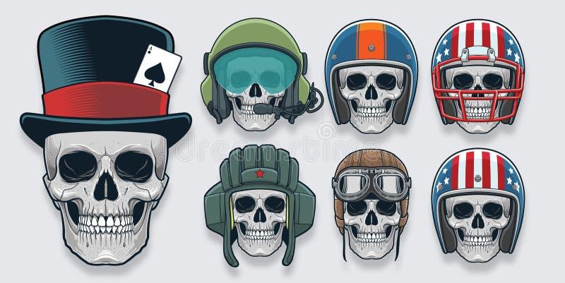 Шлем и Headwear иллюстрация штока