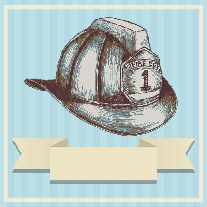 Шлем пожарного иллюстрация штока