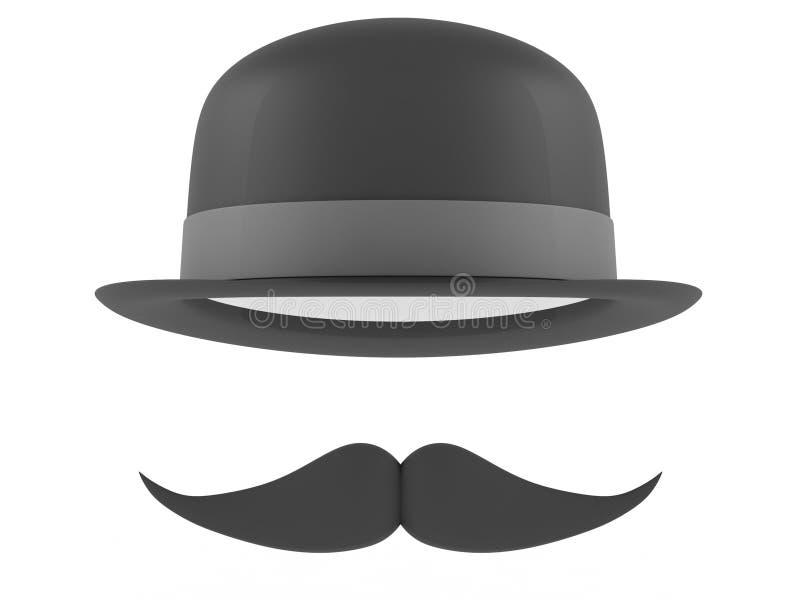 Шлем подающего и усики стоковое изображение