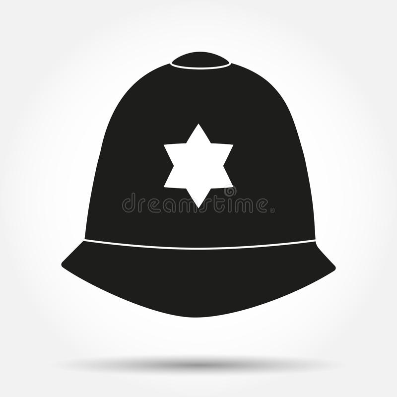 Шлем символа силуэта традиционный  иллюстрация штока