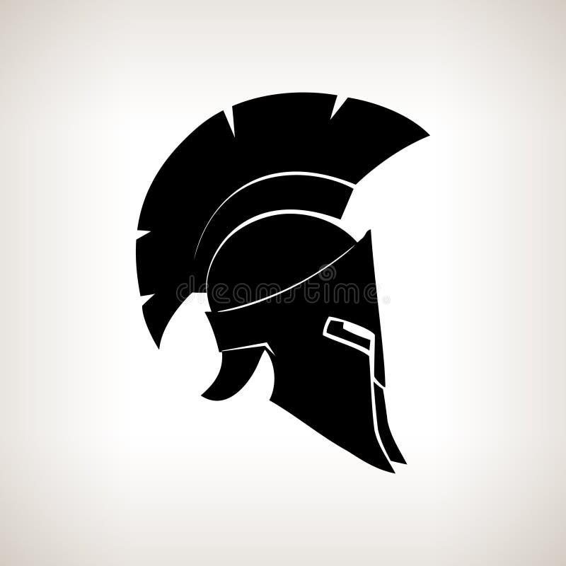 Шлем силуэта на светлой предпосылке иллюстрация вектора