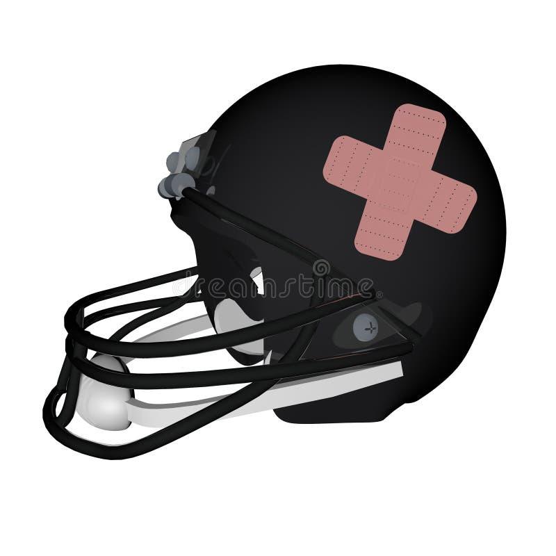 Шлем футбола с помощью диапазона бесплатная иллюстрация
