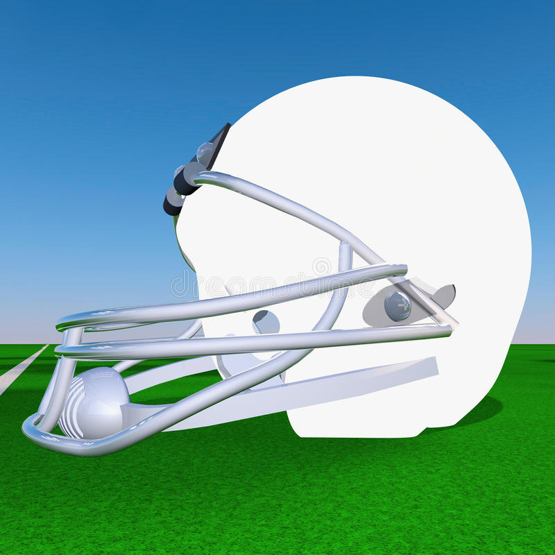 Шлем футбола бесплатная иллюстрация