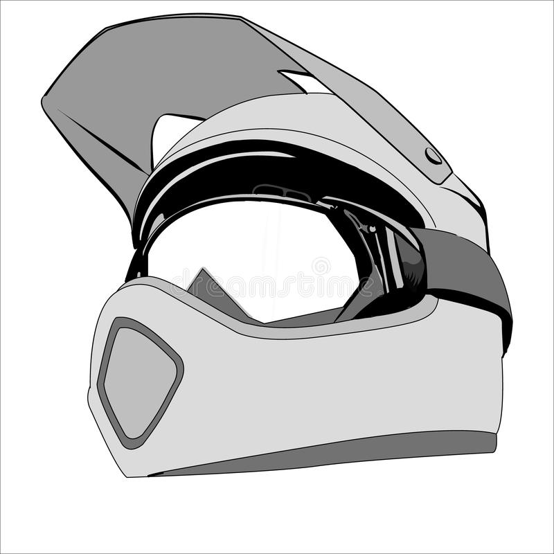 Шлем чертежа иллюстрация штока