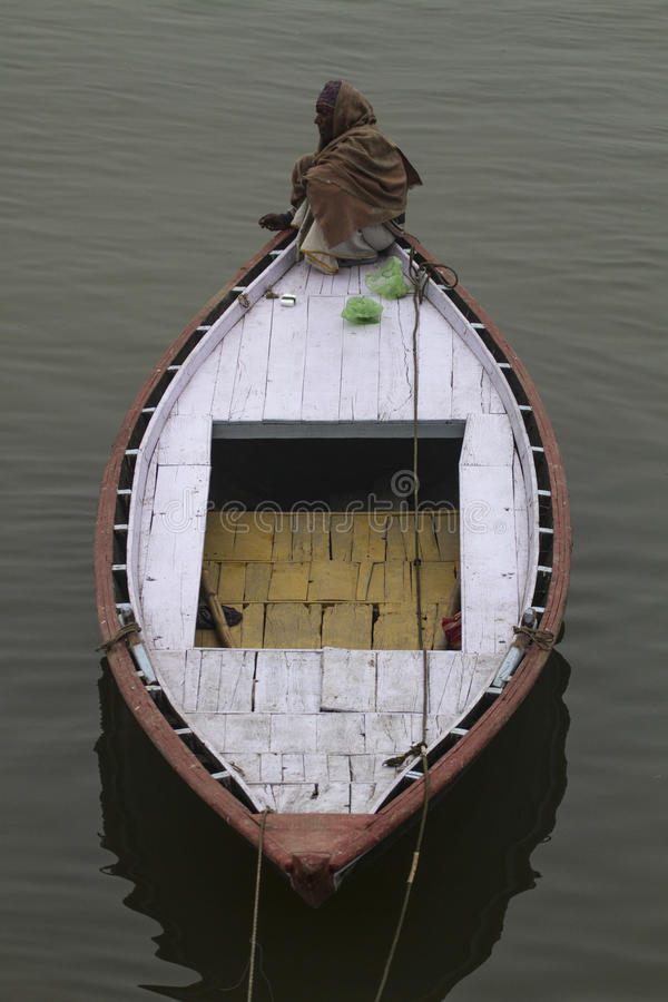 Шлюпка Варанаси (Индии) на Gange стоковые изображения rf