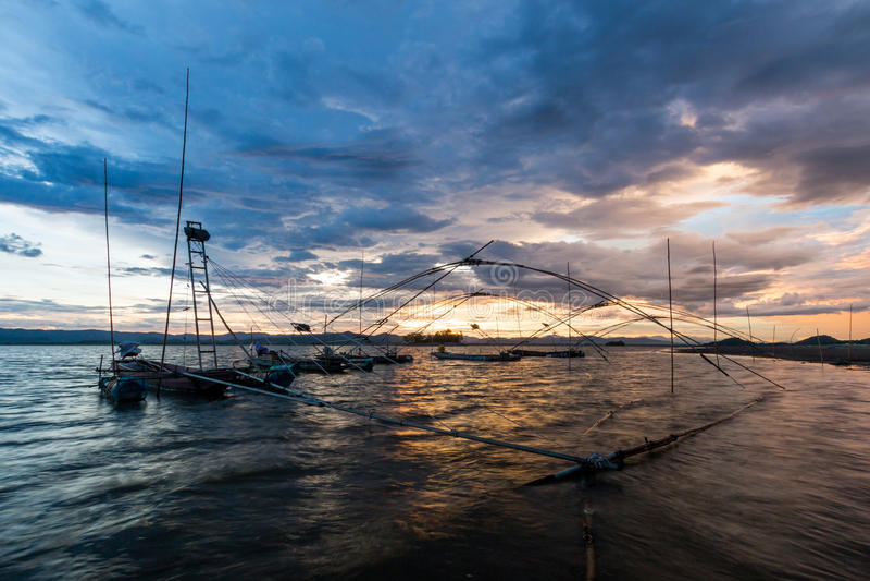 Шлюпка рыболова, Таиланд стоковые фото