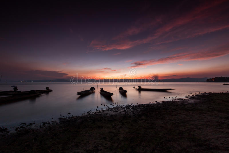 Шлюпка рыболова, Таиланд стоковое фото rf