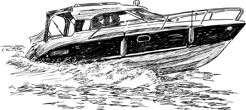 Шлюпка скорости иллюстрация штока